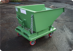 Tipping Skip with Castors Image